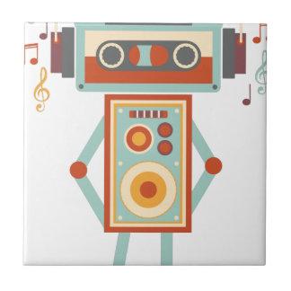 Auriculares de DJ de la cinta de la música del Azulejo Cuadrado Pequeño