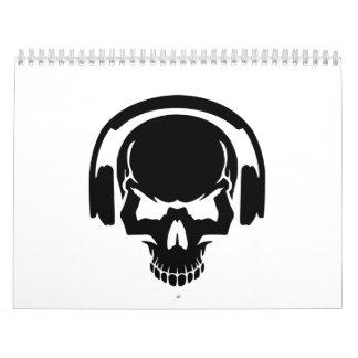 Auriculares de DJ del cráneo Calendario