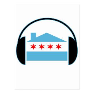 Auriculares de la bandera de casa de Chicago Postales