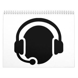 Auriculares de las auriculares calendarios