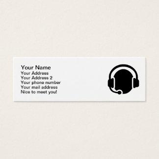 Auriculares de las auriculares tarjetas de visita mini