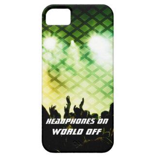 Auriculares EN el mundo del caso del iPhone 5/5s iPhone 5 Funda