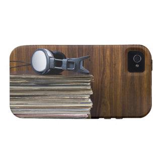Auriculares en expedientes iPhone 4/4S fundas