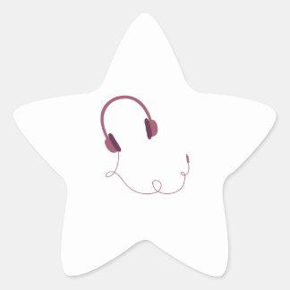 Auriculares Pegatina En Forma De Estrella