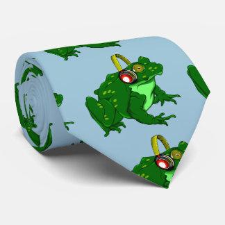 Auriculares que llevan de la rana linda del dibujo corbatas personalizadas