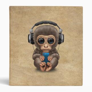 """Auriculares que llevan del mono lindo del bebé carpeta 1"""""""