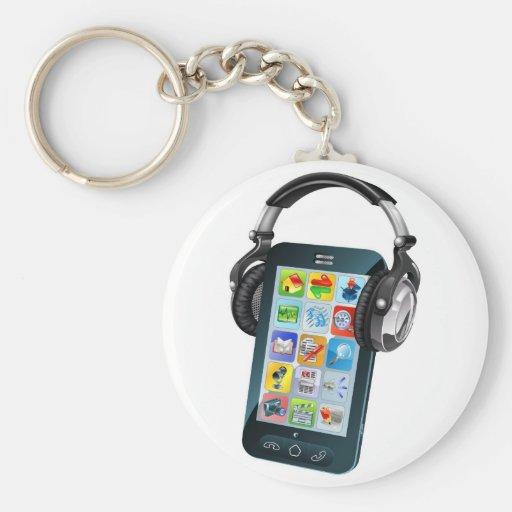 Auriculares que llevan del teléfono celular llavero personalizado