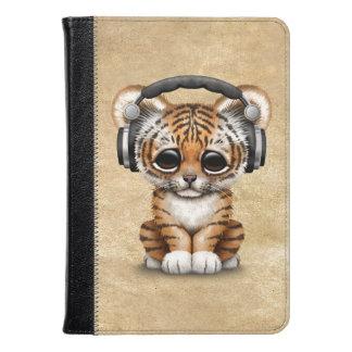 Auriculares que llevan lindos de Cub de tigre DJ