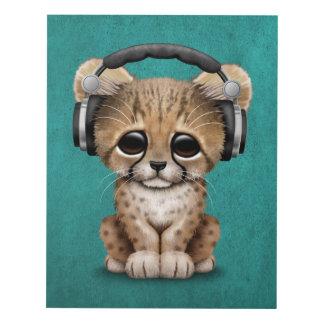 Auriculares que llevan lindos de Cub DJ del Cuadro