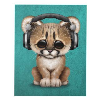 Auriculares que llevan lindos de Cub DJ del puma Cuadro
