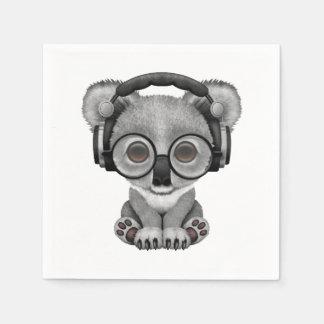 Auriculares que llevan lindos de DJ del oso de Servilletas Desechables