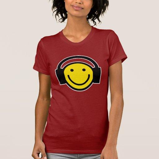 Auriculares sonrientes camiseta
