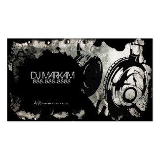 Auriculares y salpicadura de DJ en tarjetas de vis