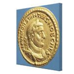 Aurífero de Constantius I César Augustus Impresión De Lienzo
