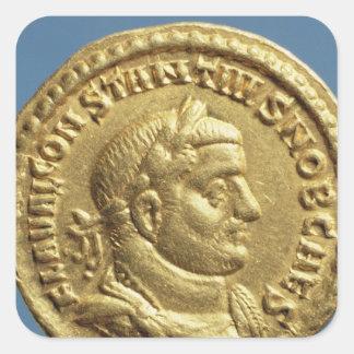 Aurífero de Constantius I César Augustus Colcomanias Cuadradas