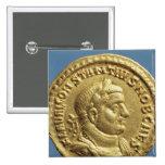 Aurífero de Constantius I César Augustus Pin Cuadrado