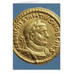 Aurífero de Constantius I César Augustus Tarjeta De Felicitación