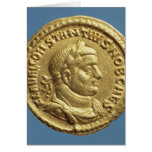 Aurífero de Constantius I César Augustus Tarjeton
