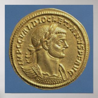 Aurífero de Diocletian cuirassed Poster