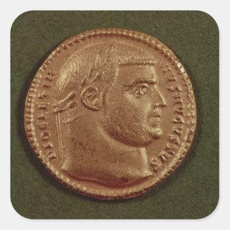 Aurífero de Diocletian que lleva una guirnalda del Calcomanía Cuadradas Personalizada