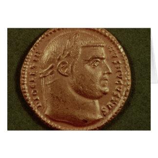 Aurífero de Diocletian que lleva una guirnalda del Tarjeta De Felicitación