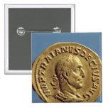 Aurífero de Trajan Decius Pin Cuadrado
