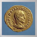 Aurífero de Trajan Decius Póster
