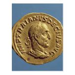 Aurífero de Trajan Decius Tarjeta Postal
