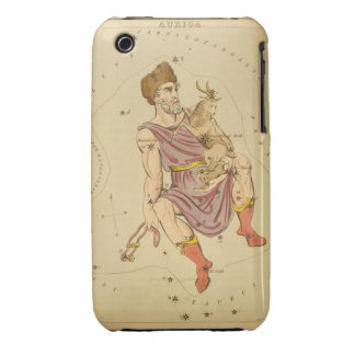 Auriga Charioteer Vintage Astronomical Star Chart iPhone 3 Case-Mate Case