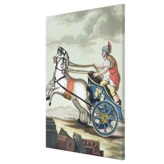 """Auriga, de """"L'Antica Roma"""", 1825 (color encendido Impresión En Lienzo Estirada"""