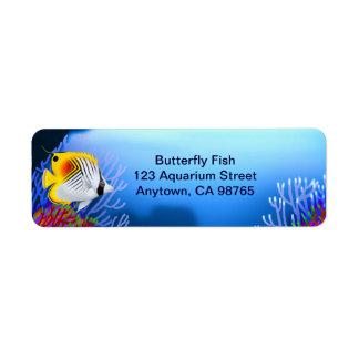 Auriga Threadfin Butterfly Fish Customizable Label