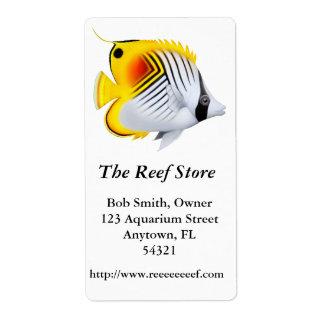 Auriga Threadfin Butterfly Fish Label