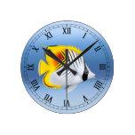 Auriga Threadfin Butterfly Fish Wall Clock