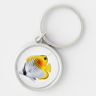 Auriga Threadfin Butterflyfish Keychain