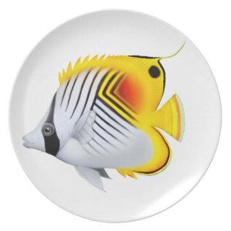 Auriga Threadfin Butterflyfish Plate