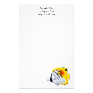 Auriga Threadfin Butterflyfish Stationery