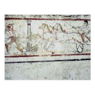Auriga y gladiador, de la tumba de postales