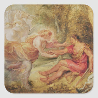 Aurora Abducting Cephalus, 1636 Square Sticker