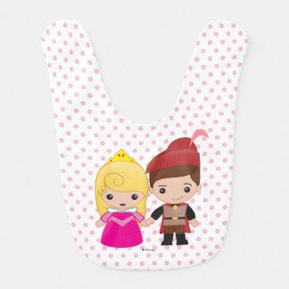 Aurora and Prince Philip Emoji Baby Bib