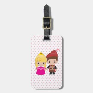 Aurora and Prince Philip Emoji Bag Tag