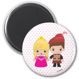 Aurora and Prince Philip Emoji Magnet