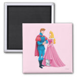 Aurora and Prince Phillip 2 Inch Square Magnet