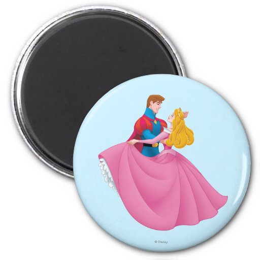 Aurora and Prince Phillip Dancing 2 Inch Round Magnet
