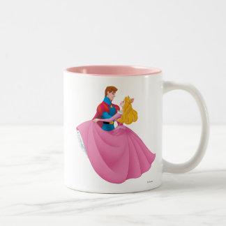 Aurora and Prince Phillip Dancing Two-Tone Coffee Mug