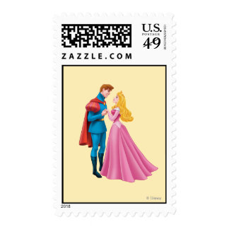 Aurora and Prince Phillip Holding Hands Postage