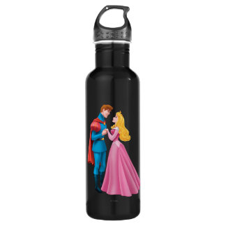 Aurora and Prince Phillip Holding Hands Stainless Steel Water Bottle