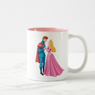 Aurora and Prince Phillip Holding Hands Two-Tone Coffee Mug