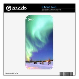 Aurora at Bear Lake. Skin For The iPhone 4
