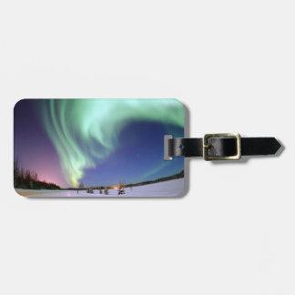 Aurora - aurora boreal hermosa etiqueta de equipaje