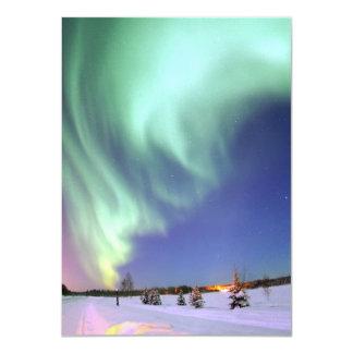 """Aurora - aurora boreal hermosa invitación 4.5"""" x 6.25"""""""